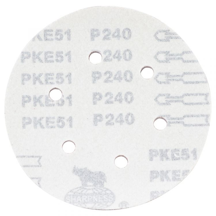 Шлифовальный круг 6 отверстий Ø150мм P240 (10шт) Sigma (9122311) - 2
