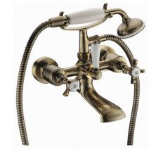 Смеситель для ванной двухвентильный Imprese CUTHNA 10280 antiqua-n