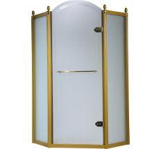 GRAND TENERIFE Gold Кабина пятиугольная с распашной дверью,в золоте, без поддона 1000*1000*2000мм