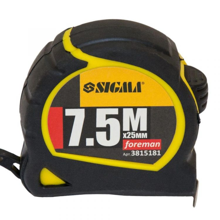 Рулетка Foreman 7.5 м*25мм Sigma (3815181) - 2