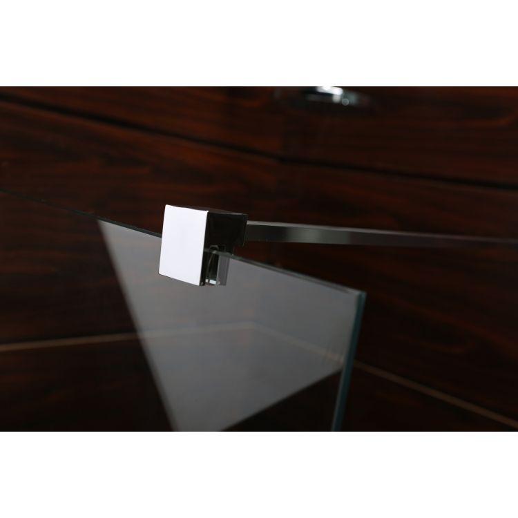 Комплект Walk-In: Стінка 100*190см прозоре скло 8мм + стіновий Профіль хром 190см+Тримач скла (D) з кріпленнями 100см - 5
