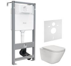 Набір інсталяційний: GAP Rimless унітаз підвісний з сидінням Slim + VOLLE MASTER EVO інсталяція для унітазу 3в1 (інсталяція, кріплення, прокладка)