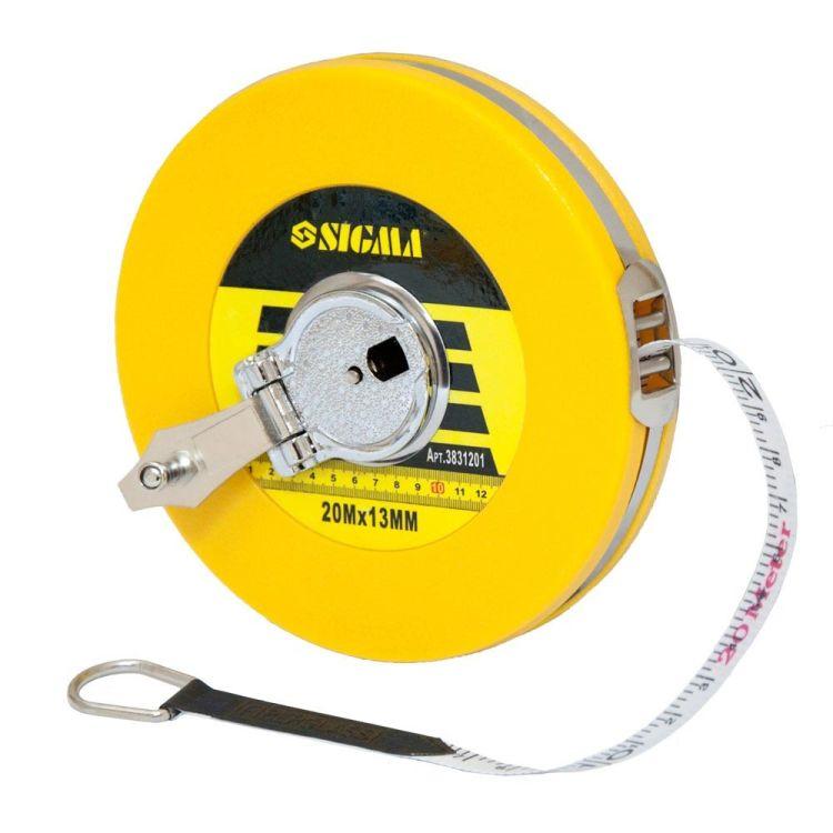 Рулетка стекловолокно 20м*13мм Sigma (3831201) - 2