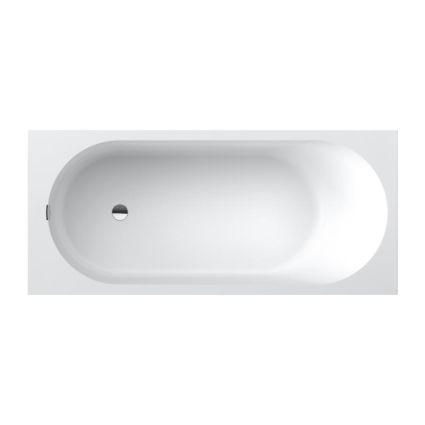 OBERON 2.0 Solo ванна 180*80см, квариловая з ніжками і зливом-переливанням - 1