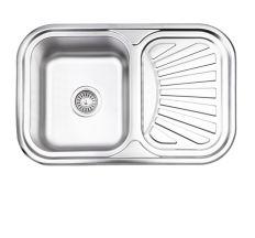 Кухонна мийка Lidz 7549 Satin 0,8 мм (LIDZ7549SAT8)