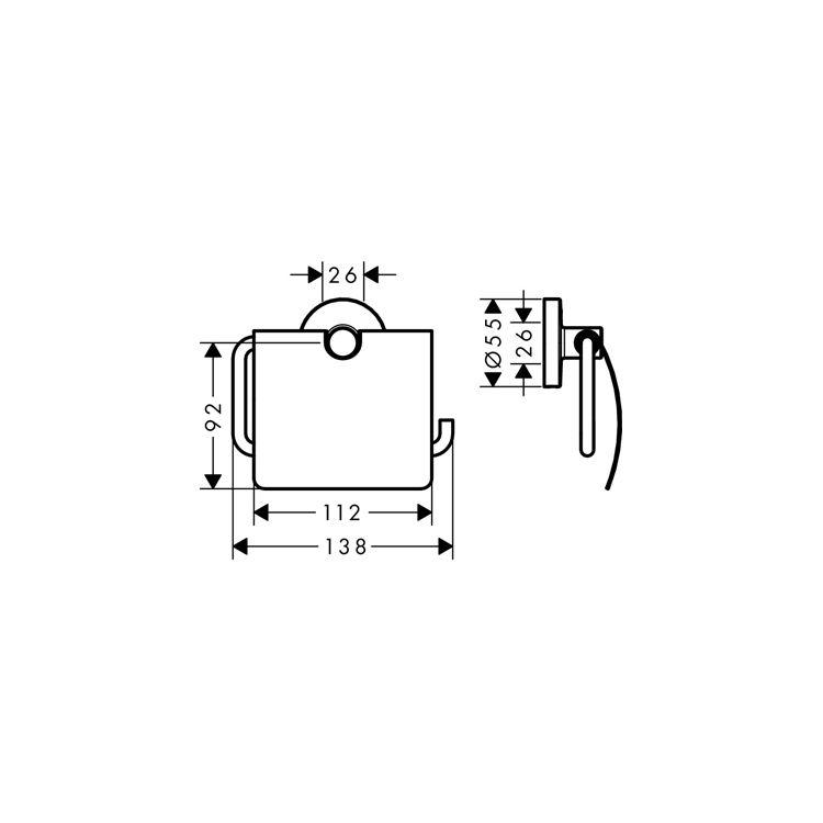 Logis Набор аксессуаров: крючок двойной, держатель туалетной бумаги, стакан, туалетная щётка (41725000+41723000+41718000+41722000) - 4