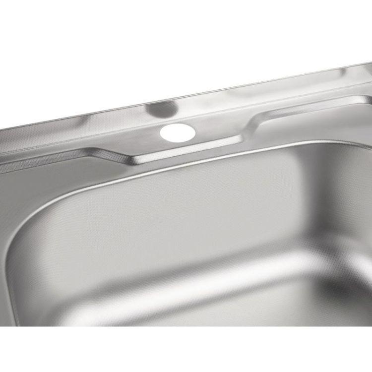 Кухонна мийка Lidz 5050 Decor 0,8 мм (LIDZ5050DEC08) - 6