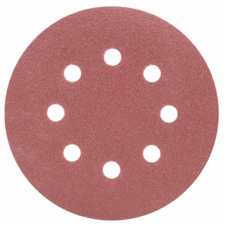 Шлифовальный круг 8 отверстий Ø125мм P100 (10шт) Sigma (9122661) - 1