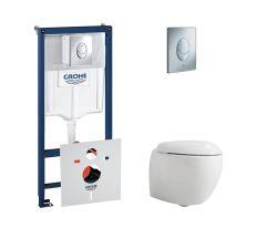 Комплект унітаз+інсталяція (Azzurra Clas+ CLP100B1/SOSK+Azzurra Clas+ CLA1800/F+Grohe Rapid SL 38721001)