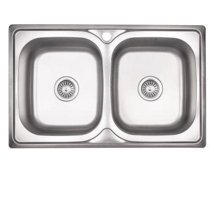 Кухонна мийка Lidz 7948 Satin 0,8 мм (LIDZ7948SAT8) - 1