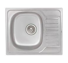 Кухонна мийка Qtap 5848 dekor 0,8 мм (QT5848MICDEC08)