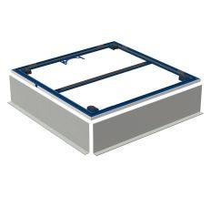 Geberit Монтажна рама для поверхні для душової зони Setaplano до 100 см, для 4х ніжок 100*100 см