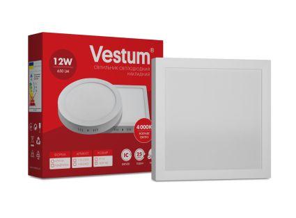Светильник светодиод 12W 1-VS-5402 LED накладной квадратный Vestum 4000K 220V - 1