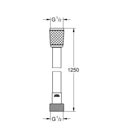 Relexaflex шланг душевой 125см - 2