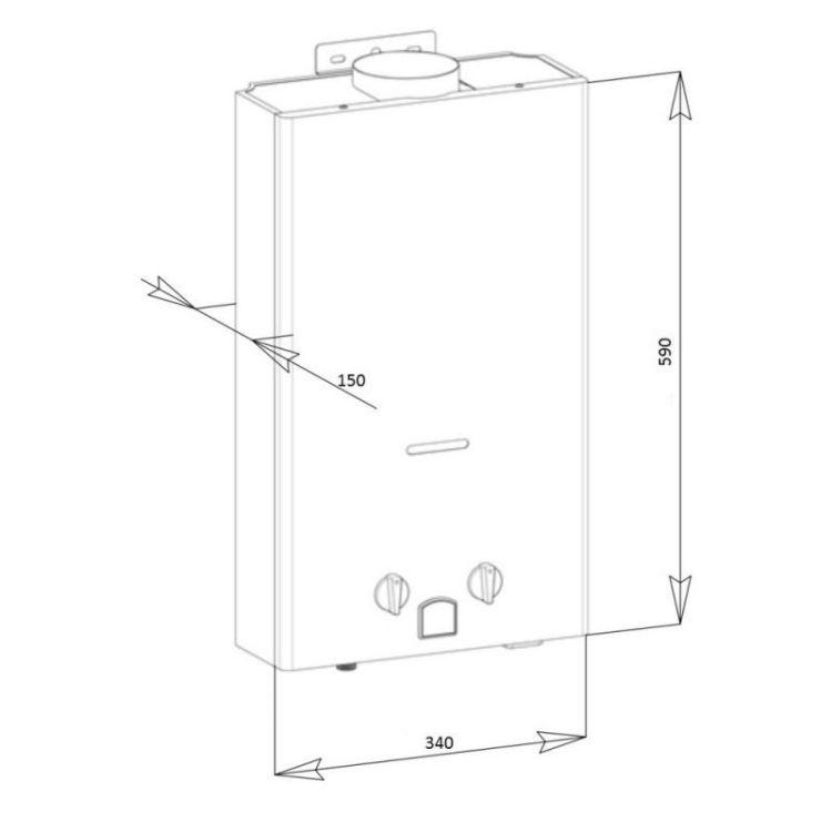 Колонка димохідна газова Aquatronic JSD20-AG308 10 л скло (пляж) - 2