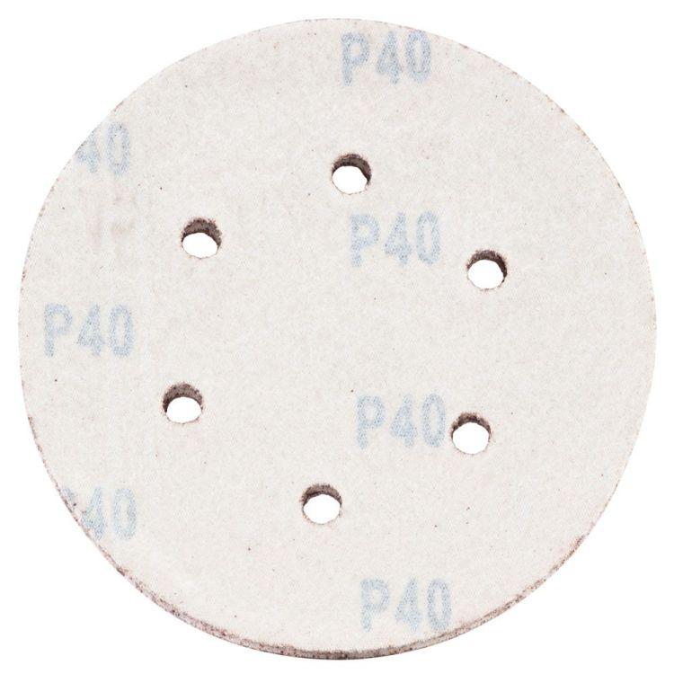 Шлифовальный круг 6 отверстий Ø150мм P40 (10шт) Sigma (9122231) - 2