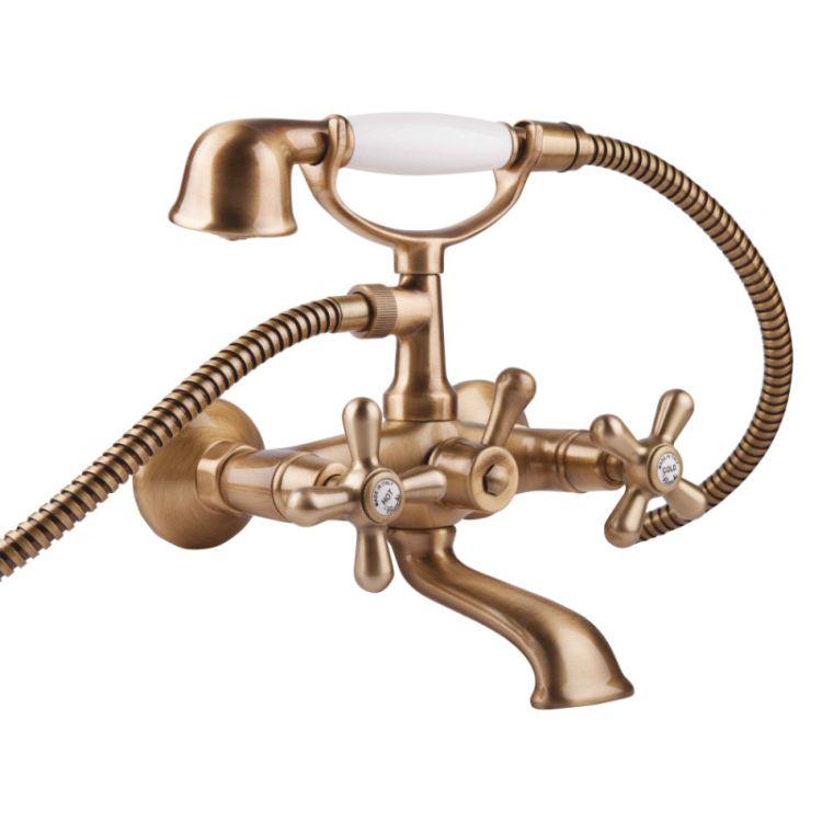 Смеситель для ванны с душ. компл. пл.гусь Fashion 1023#OLD Bianch VSCOLF VOTi - 1
