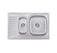 Кухонна мийка Lidz 7850 Satin 0,8 мм (LIDZ7850SAT8)