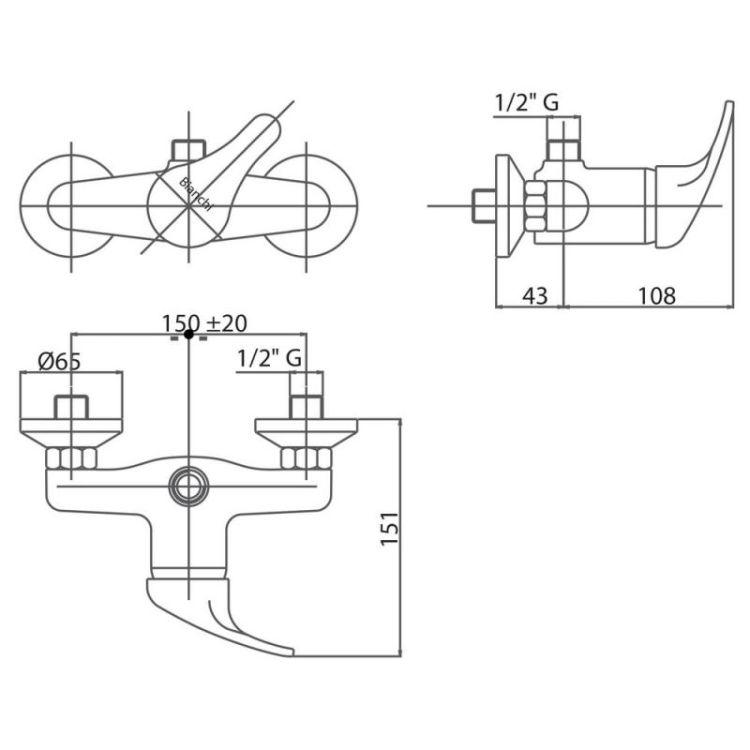 Змішувач для душу Bianchi Star ESDSTR2035STRSKCRM - 2