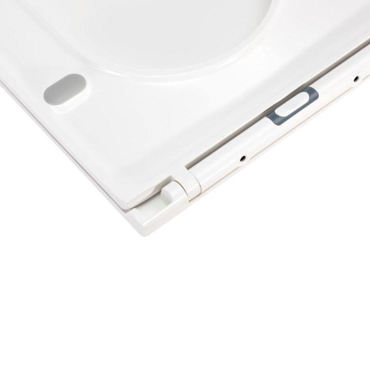 Унітаз підвісний Qtap Aries безободковый з сидінням Slim Soft-close QT0333063ERW - 8