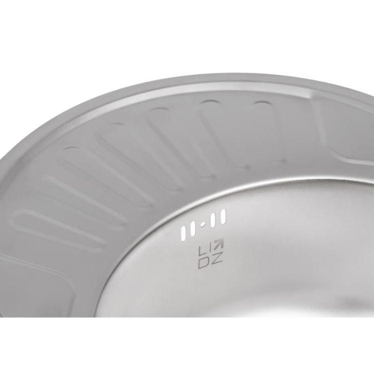 Кухонна мийка Lidz 5745 Satin 0,8 мм (LIDZ5745SAT08) - 6