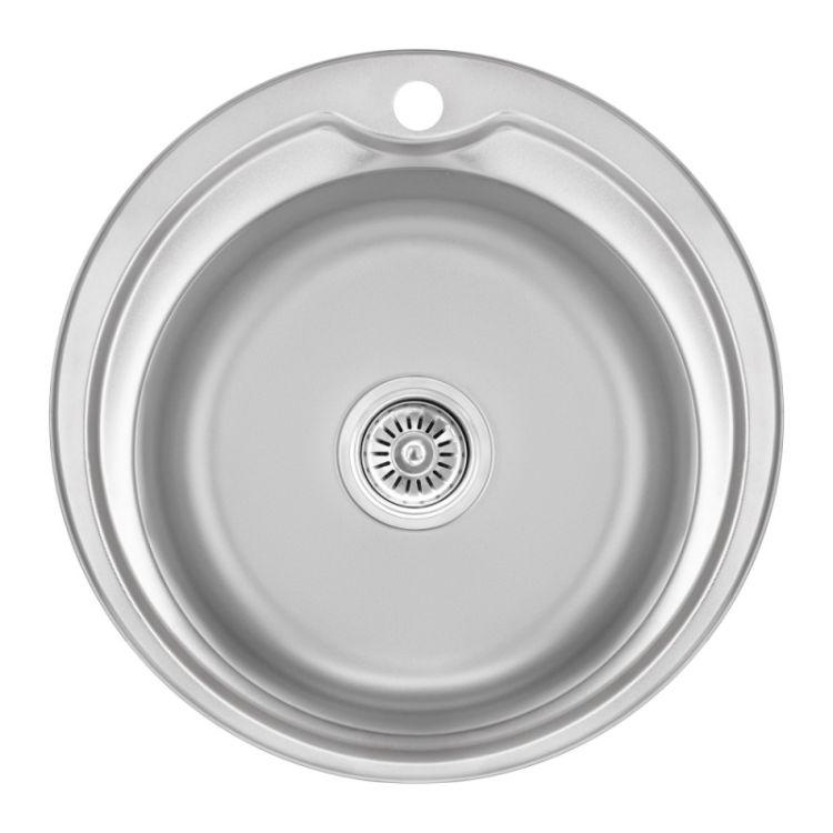 Кухонна мийка Lidz 510-D dekor 0,8 мм (LIDZ510DEC) - 1