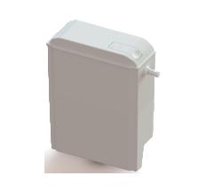 Бачок зливний в компл з зливн механізмом SLIM-side 02006 Plastic toilet tank