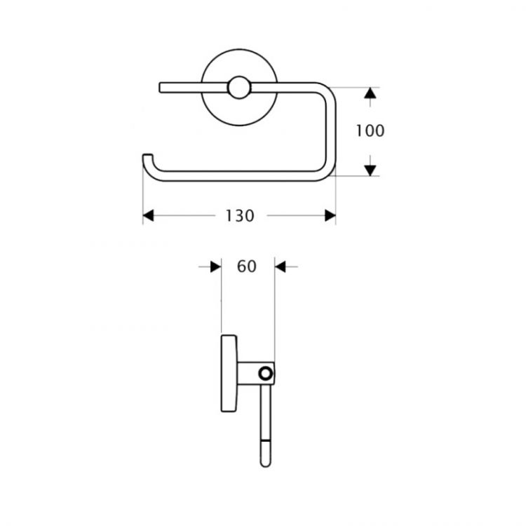 Тримач для туалетного паперу Potato P2903-2 - 2