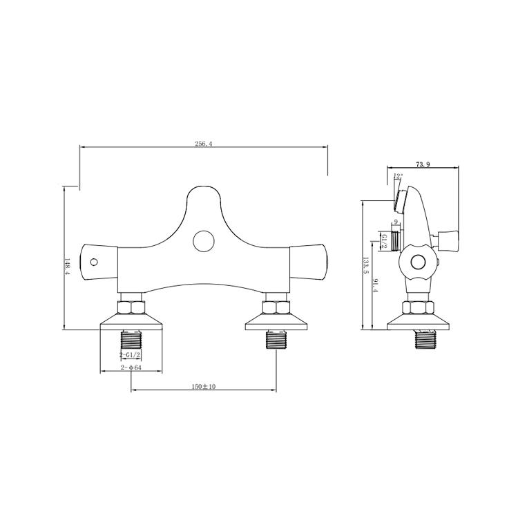 Змішувач PIAVE Ø27 термостатичний для ванни литий CORSO (EG-8C187C) - 6