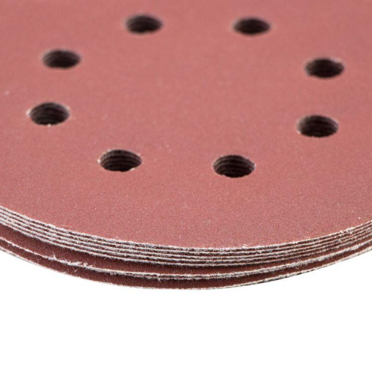 Шлифовальный круг 8 отверстий Ø125мм P320 (10шт) Sigma (9122731) - 4