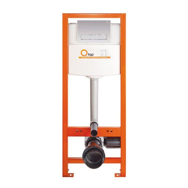 Комплект Qtap інсталяція Nest QTNESTM425M08CRM + унітаз з сидінням Jay QT07335176W + набір для гігієнічного душу зі змішувачем Form QTFORMCRM001AB - 7