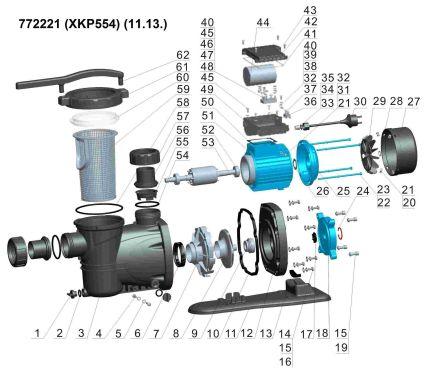 Насос для басейну Aquatica 772221 0.55кВт Hmax 10м Qmax 300л/мин - 4