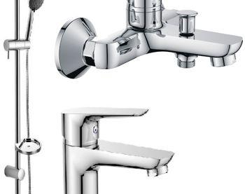 Преимущества набора смесителей для ванны, почему сложно выбрать элементы отдельно?