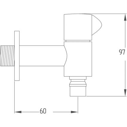 Кран поливний Potato P4154 - 2