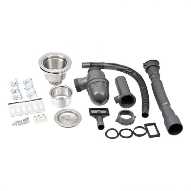 Кухонна мийка Qtap D4843BL 2.7/1.0 мм (QTD4843BLPVD2710) - 7