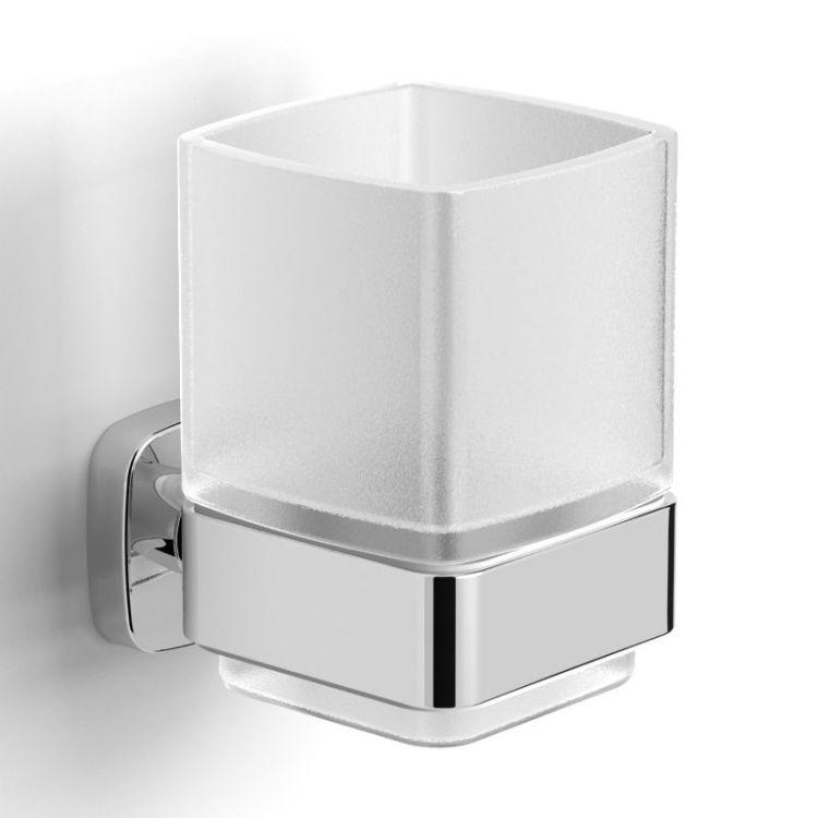 TEO склянку матове скло, кріплення до стіни, хром - 1