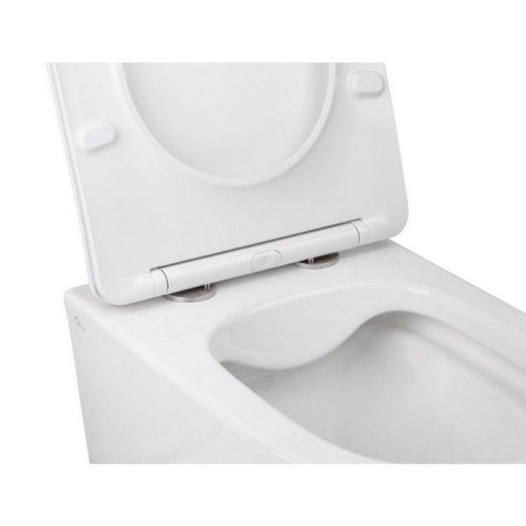 Комплект інсталяція Grohe Rapid SL 38772001 + унітаз з сидінням Qtap Swan QT16335178W + набір для гігієнічного душу зі змішувачем Grohe BauClassic 2904800S - 5