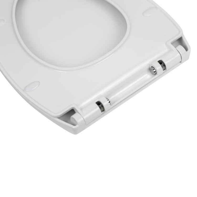 Унітаз підвісний Qtap Leo безободковый з сидінням Slim Soft-close QT11331002ERW - 8