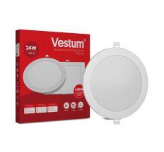 Світильник LED врізний круглий Vestum 24W 6000K 220V