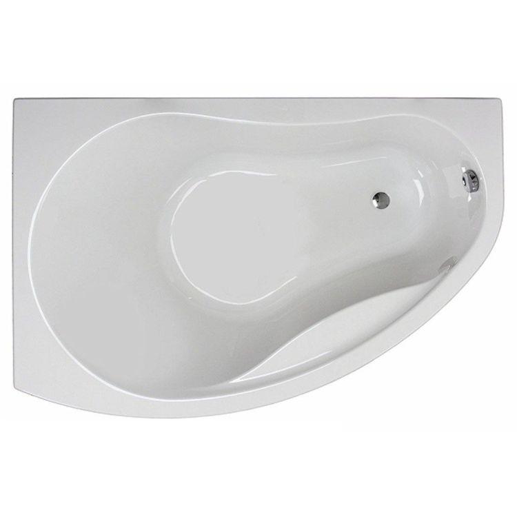 PROMISE ванна асиметрична 150*100 см, ліва, біла, з ніжками SN7 - 1