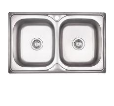 Кухонна мийка Lidz 7948 Satin 0,8 мм (LIDZ7948SAT8)