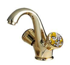 Смеситель для умывальника SANTAN MURRINE 186O0623 gold, с донным клапаном