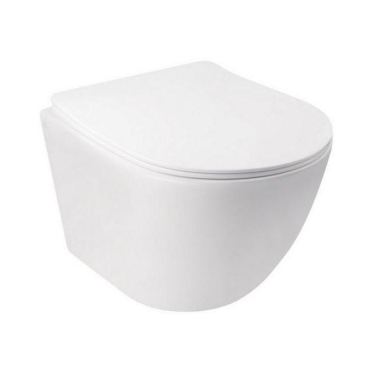 Комплект інсталяція Grohe Rapid SL 38722001 + унітаз з сидінням Qtap Jay QT07335176W + набір для гігієнічного душу зі змішувачем Grohe BauLoop 111042 - 3