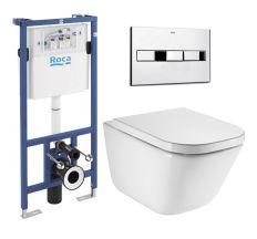 Комплект GAP Rimless унітаз підвісний,  PRO інсталяція для унітаза, кнопка, сидіння тверде  slow-clo