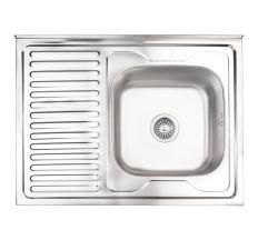 Кухонна мийка Lidz 6080-R Satin 0,8 мм (LIDZ6080RSAT8)
