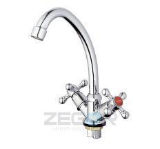 Смеситель для мойки круглый гусак Zegor T41-TZN-A605