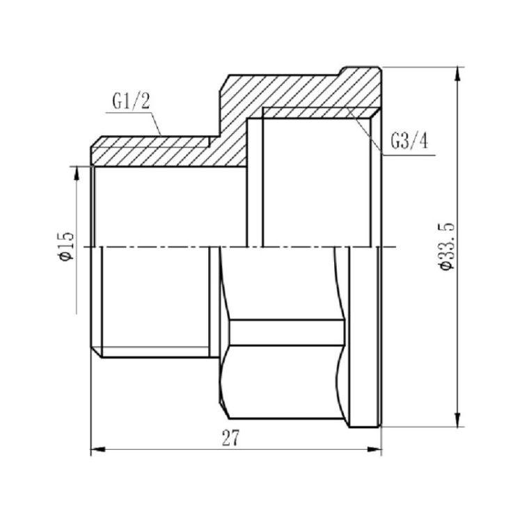 Перехід Forte 3/4Вх1/2Н SF3602015 - 2