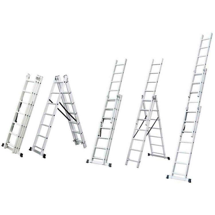 Лестница раскладывающаяся универсальная 12 ступенек FLORA (5032354) - 1