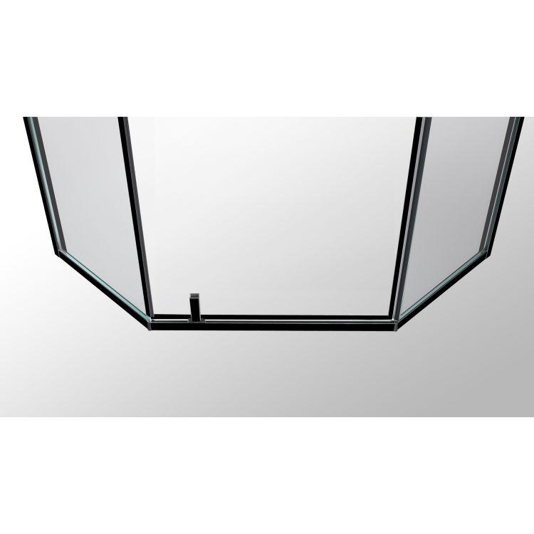 A LÁNY Душевая кабина пятиугольная, реверсивная, 1000*1000*1950 (стекла+двери), двери распашные, стекло прозрачное 6 мм, профиль черный - 4