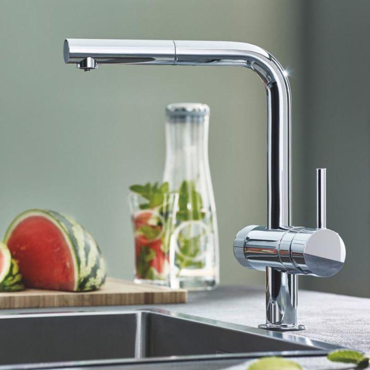 Pure Blue Minta змішувач одинважільний для миття з функцією очищення водопровідної води, монтаж на один отвір - 10